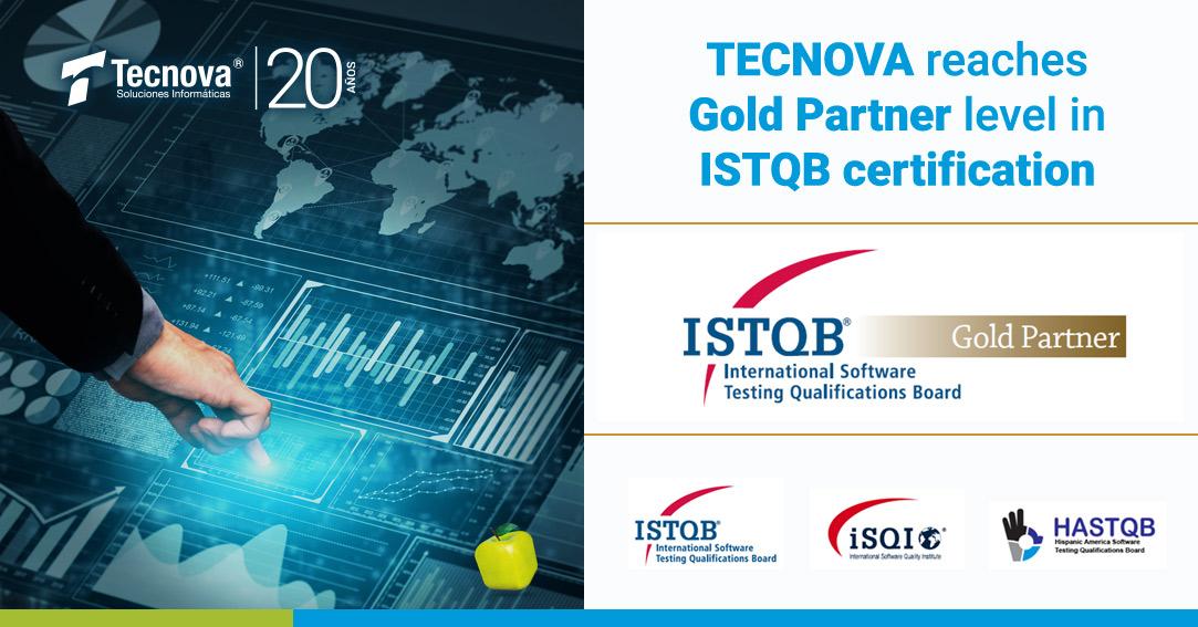 Tecnova reaches Partner Gold level in ISTQB certification